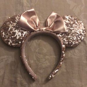 Rose Gold Sequin Mickey Ears!